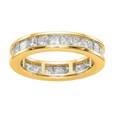 Womens 4.5mm 3 CT. T.W. Genuine White Diamond 14K Gold Round Eternity Band