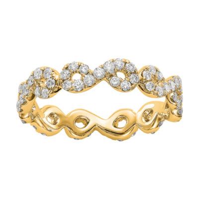 Womens 7/8 CT. T.W. White Diamond 14K Gold Eternity Band