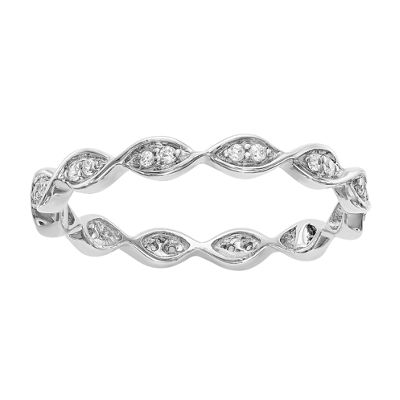 Womens 1/2 CT. T.W. White Diamond 14K Gold Eternity Band