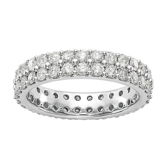 4.5MM 2 CT. T.W. Genuine White Diamond 14K White Gold Round Eternity Band