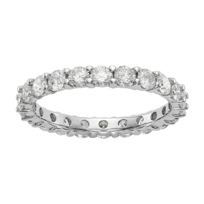 Womens 1 1/2 CT. T.W. White Diamond 14K Gold Eternity Band