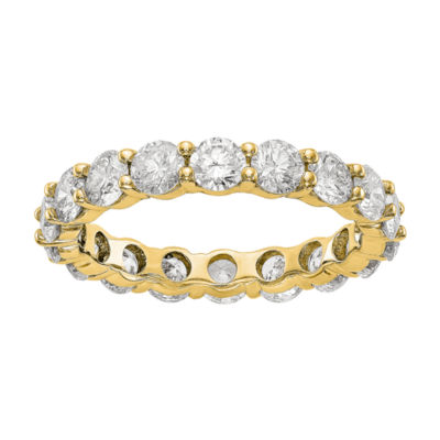 Womens 3 CT. T.W. Genuine White Diamond 14K Gold Eternity Band