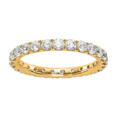 Womens 2.5MM 1 1/2 CT. T.W. Genuine White Diamond 14K Gold Round Eternity Band