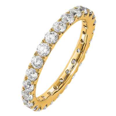 Womens 2.5mm 1 1/2 CT. T.W. Genuine White Diamond 14K Gold Round Eternity Band