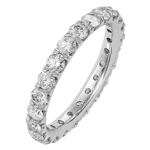Womens 2 CT. T.W. Genuine White Diamond 14K Gold Eternity Band