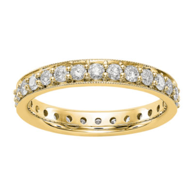 Womens 1 CT. T.W. White Diamond 14K Gold Eternity Band