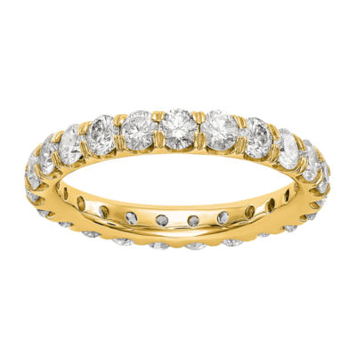 Womens 3.5mm 3 CT. T.W. White Diamond 14K Gold Round Eternity Band