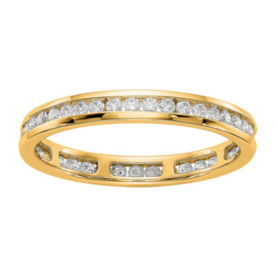 Womens 2.5mm 1/2 CT. T.W. Genuine White Diamond 14K Gold Round Eternity Band