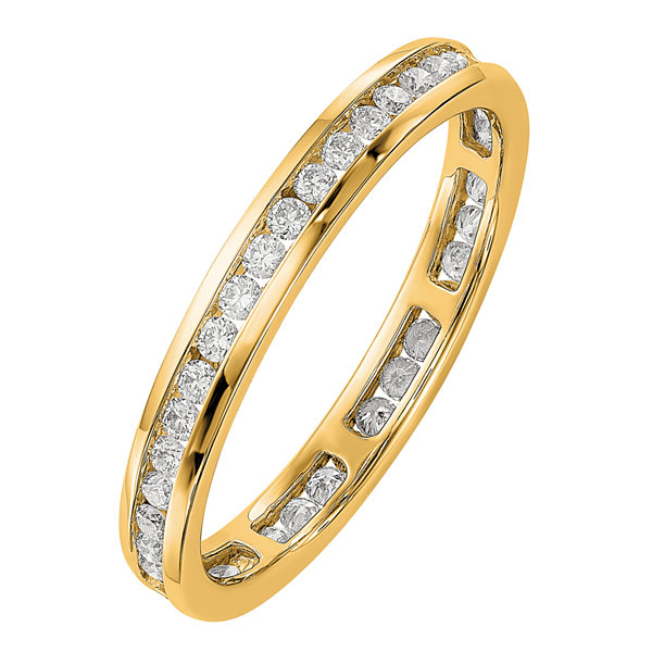 Womens 1/2 CT. T.W. Genuine White Diamond 14K Gold Eternity Band