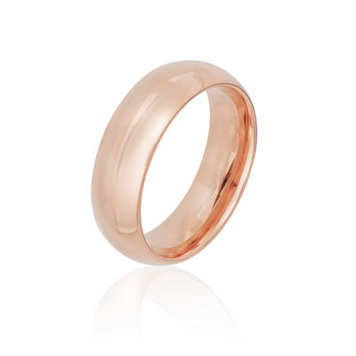 Mens Sterling Silver Gold Over Silver Wedding Band