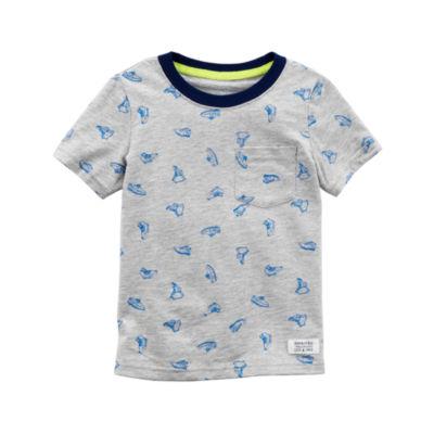 Carter's Sneaker Print Short Sleeve Graphic T-Shirt-Preschool Boys
