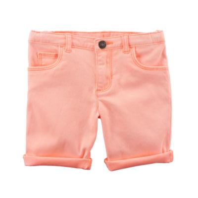 Carter's Roll Cuff Denim Pull-On Shorts Preschool Girls