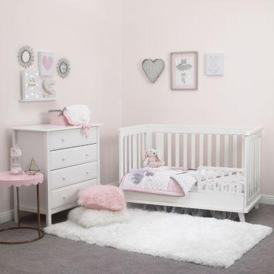 Nojo Ballerina Bows 4-pc. Crib Bedding Set