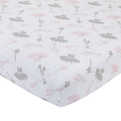 Nojo Ballerina Bows 1 Pair Crib Sheet