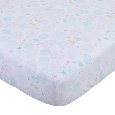 Disney Ariel Sea Princess 1 Pair The Little Mermaid Crib Sheet