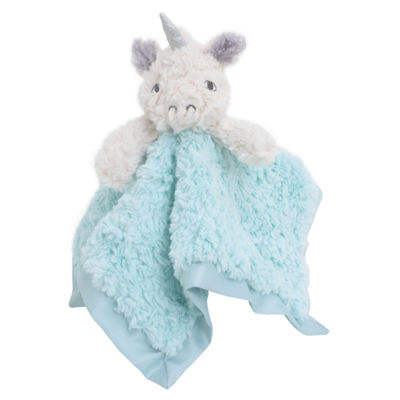Cuddle Me Cuddle Plush Security Blanket - Aqua Unicorn