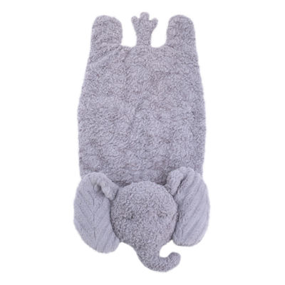 Cuddle Me Cuddle Plush Tummy Time Play Mat - Gray Elephant