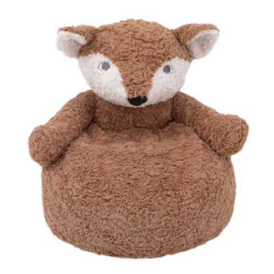 Cuddle Me Luxe Brown Fox Plush Chair