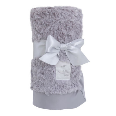 Cuddle Me Luxury Plush Blanket with Matte Satin Border - Gray