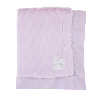 Cuddle Me Plush Baby Blankets - Lavendar