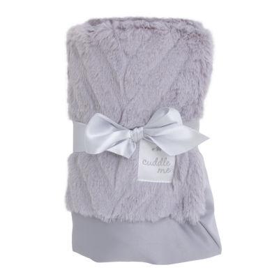 Cuddle Me Luxury Plush Chevron Blanket - Gray
