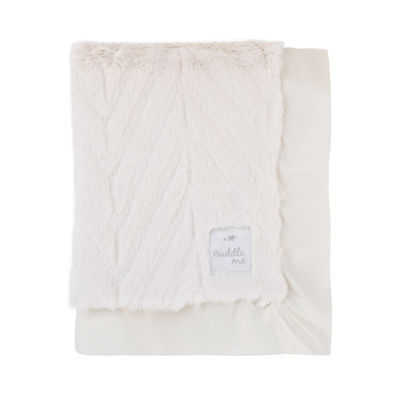Cuddle Me Luxury Plush Chevron Blanket - Ivory