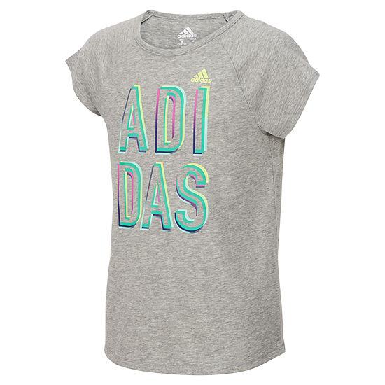 bc4a3da8e2e adidas Girls Round Neck Short Sleeve Graphic T-Shirt-Preschool - JCPenney