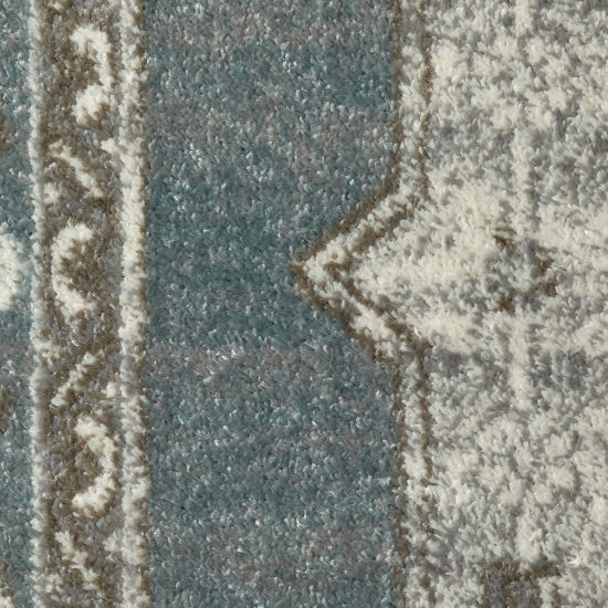 Matrix Modern Abstract Rectangular Rug with Medallion