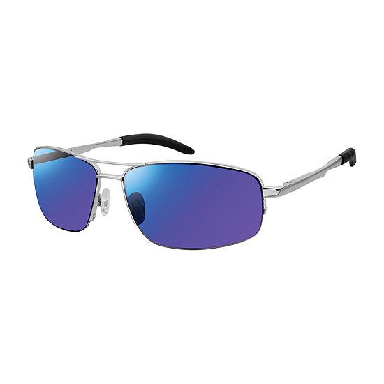 Arizona Mens Half Frame Aviator Sunglasses