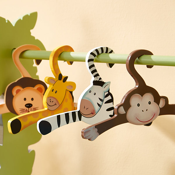 Fantasy Fields Sunny Safari Set of 4 Hangers
