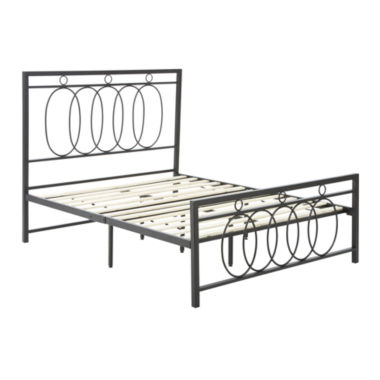 Dream Innovations Chadwick Infinity Scroll Black Metal Platform Bed Frame