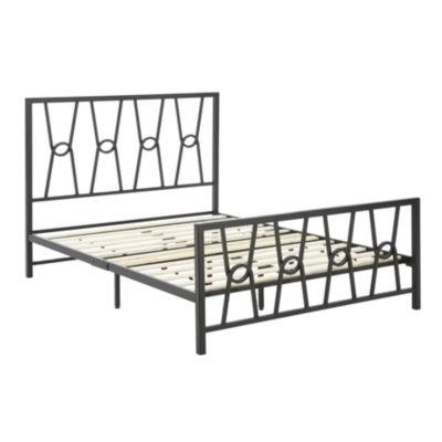 Dream Innovations Ciara Stylish Black Platform Bed Frame