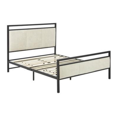 Dream Innovations Almeta Metal and Fabric Mix Platform Bed Frame