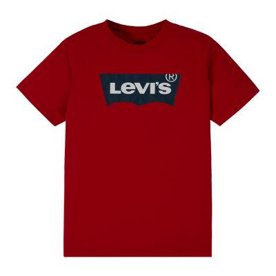 Levi's Boys Crew Neck Short Sleeve T-Shirt-Preschool