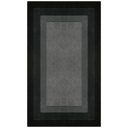 JCPenney Home McKenzie Washable Rectangular Rug, One Size , Black