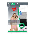 Hanes Ultimate™ Cool Comfort™ Fit Cotton Stretch 4 Pair Bikini Panty