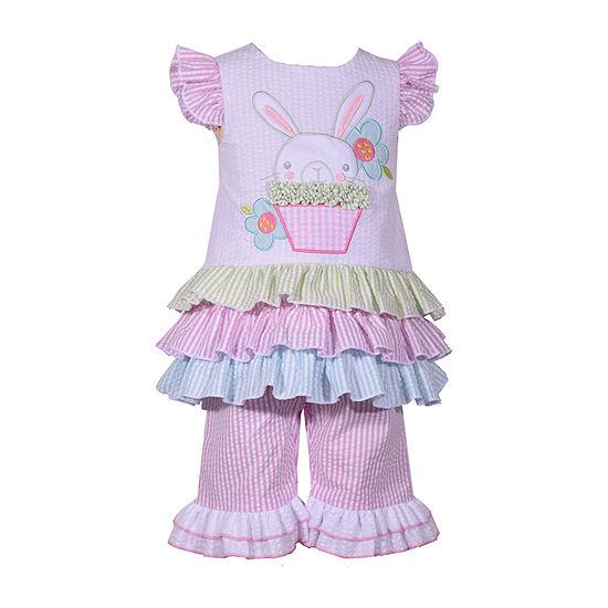 Bonnie Jean Bunny Girls 2-pc. Legging Set-Baby