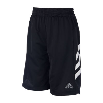 adidas Mid Rise Elastic Waist Workout Shorts Preschool / Big Kid Boys