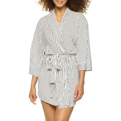 Jezebel Womens 3/4 Sleeve Short Length Knit Robe
