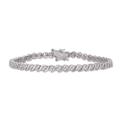 1 CT. T.W. Genuine White Diamond Tennis Bracelet