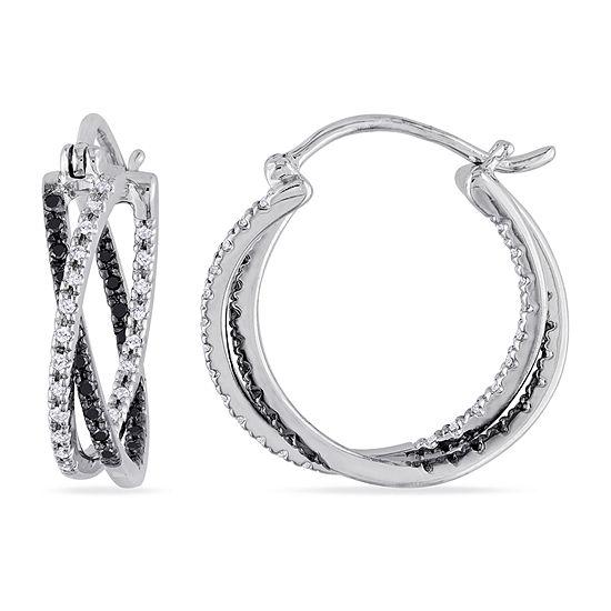 Midnight Black 1 4 Ct T W Genuine Diamond Sterling