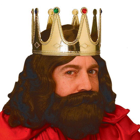 King Adult Crown Dress Up Accessory