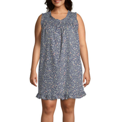Adonna Womens Nightgown Sleeveless Round Neck