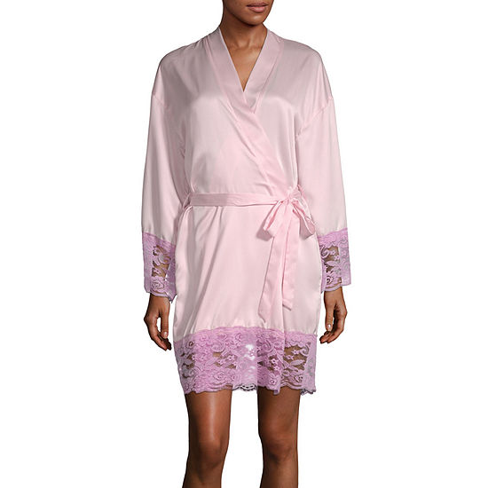 Macbeth Collection by Margaret Josephs Women's Lace Trim Robe
