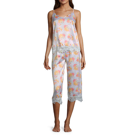 Macbeth Collection by Margaret Josephs Women's Lace Trim Capri Pajama Set