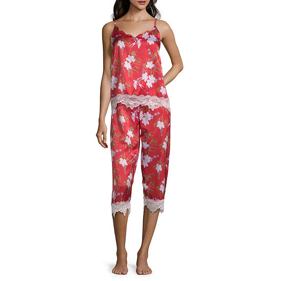 Macbeth Collection by Margaret Josephs Women's Lace Trim Capri Pajama Set