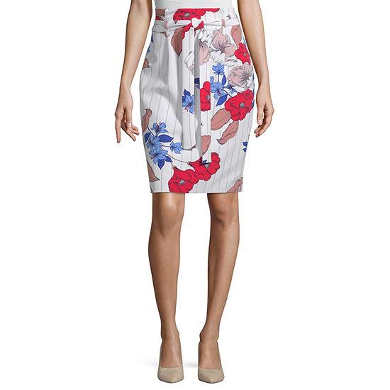 Liz Claiborne Waist Tie Skirt - Tall