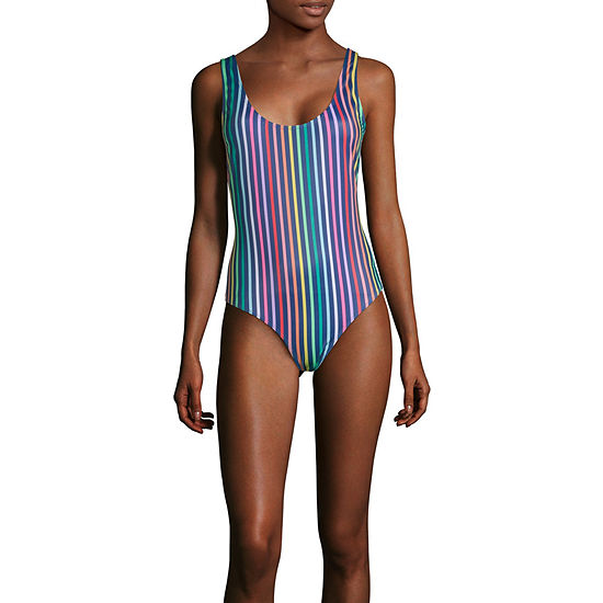 659da0f118f City Streets Striped One Piece Swimsuit Juniors - JCPenney