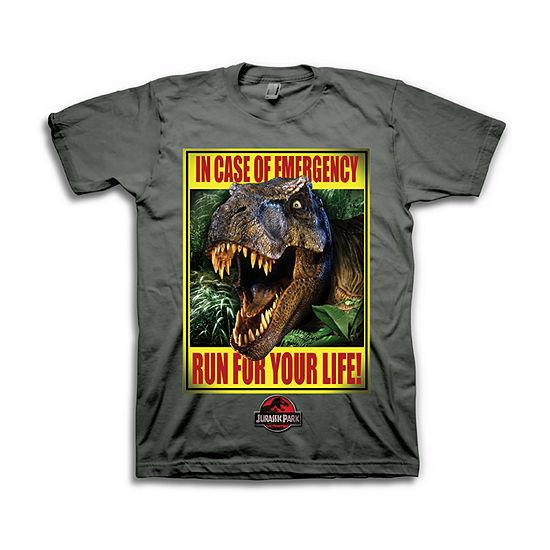 Boys Crew Neck Short Sleeve Jurassic World Graphic T-Shirt - Preschool / Big Kid