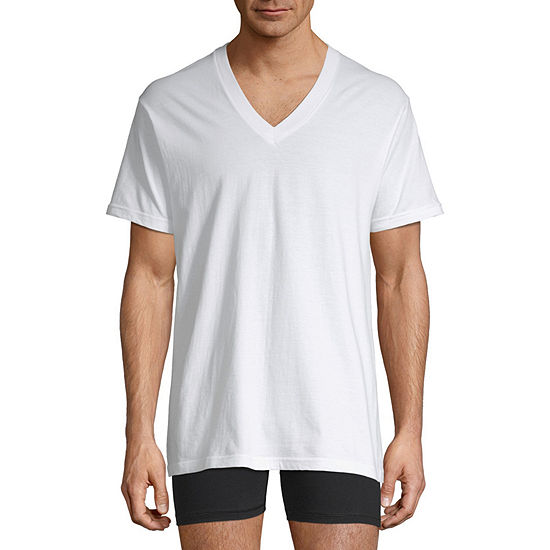 Stafford® 4-pk. Cotton V-Neck T-Shirts
